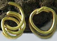 Spirals from golden pipe. Civilization from the 3rd millennium BC.
