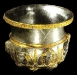 Silver Bowl with golden decorations