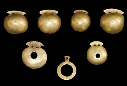Golden Appliques (№ 36). Chalcolithic Necropolis town of Varna